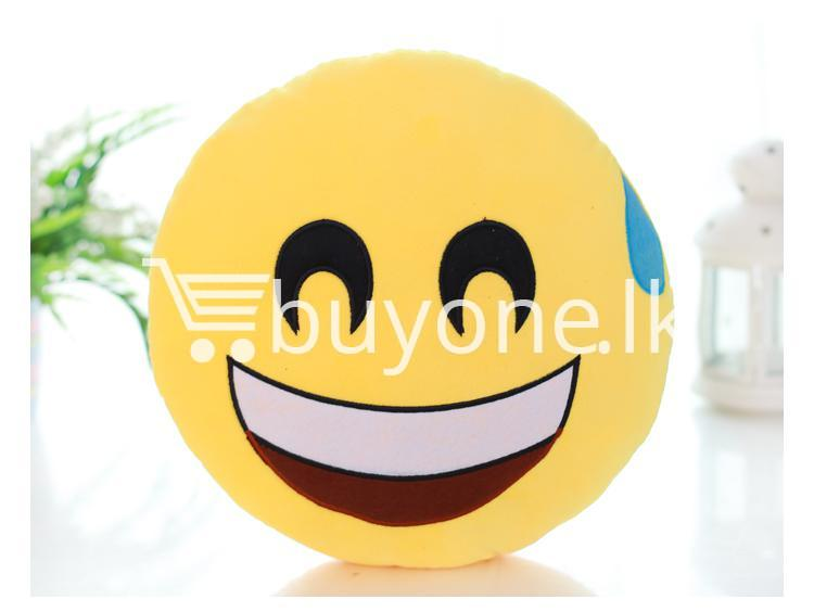 soft emotional smiley yellow round cushion pillow home and kitchen special best offer buy one lk sri lanka 10754 1 Soft Emotional Smiley Yellow Round Cushion Pillow