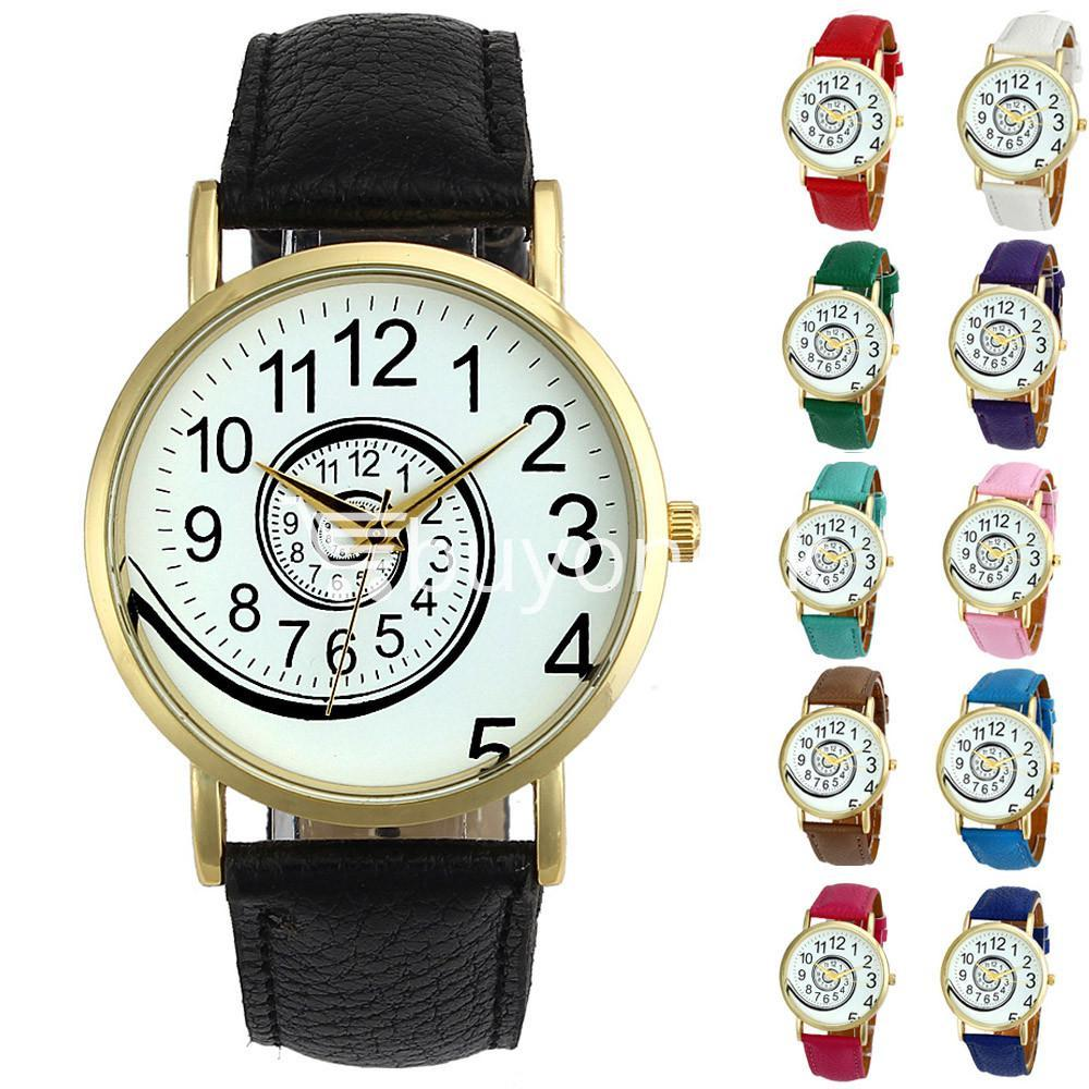 spiral design pattern quartz wrist watch watch store special best offer buy one lk sri lanka 09055 - Spiral Design Pattern Quartz Wrist Watch