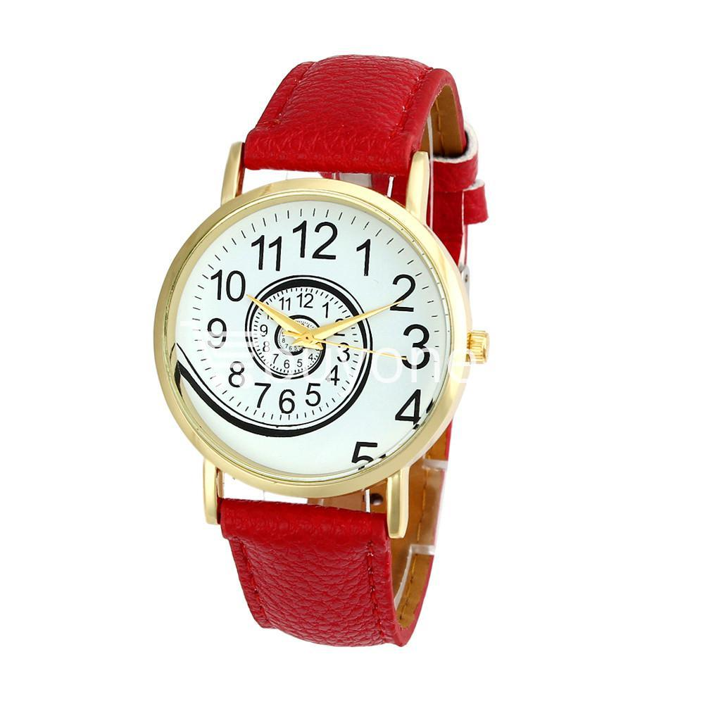 spiral design pattern quartz wrist watch watch store special best offer buy one lk sri lanka 09057 1 - Spiral Design Pattern Quartz Wrist Watch