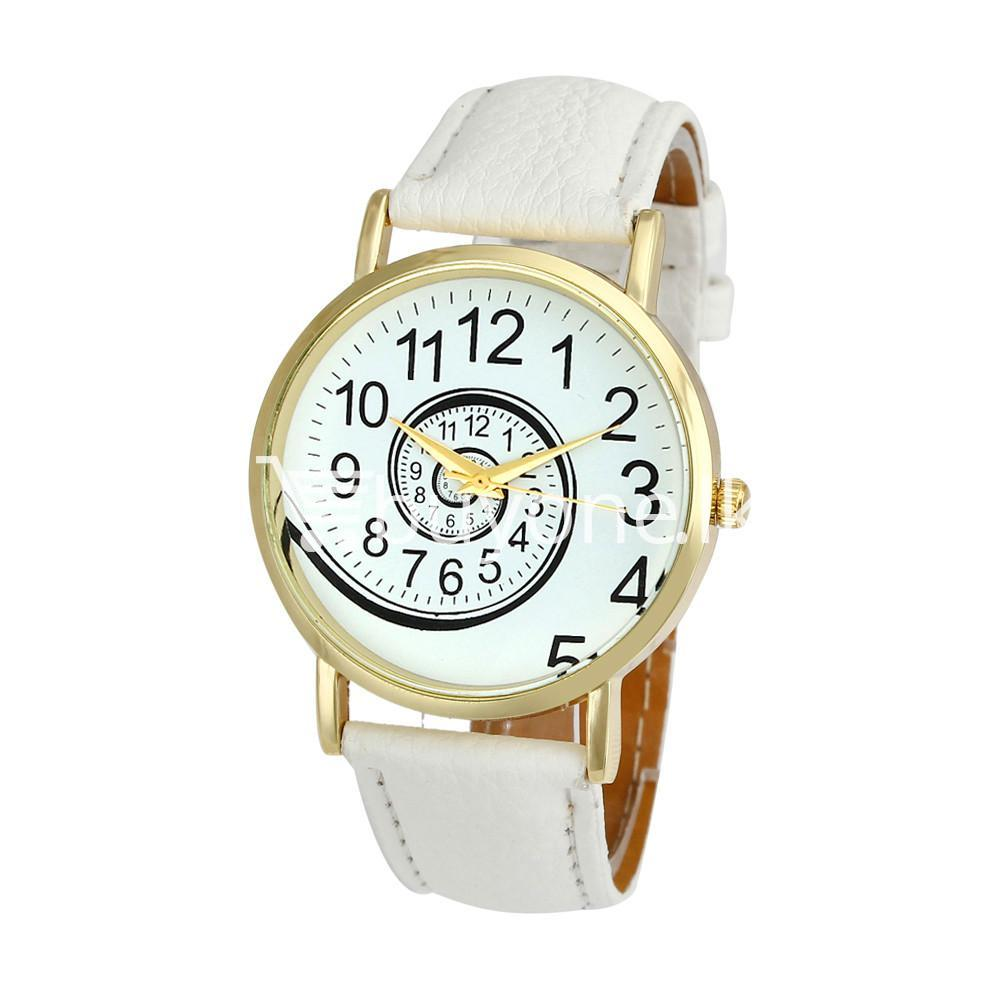 spiral design pattern quartz wrist watch watch store special best offer buy one lk sri lanka 09058 - Spiral Design Pattern Quartz Wrist Watch