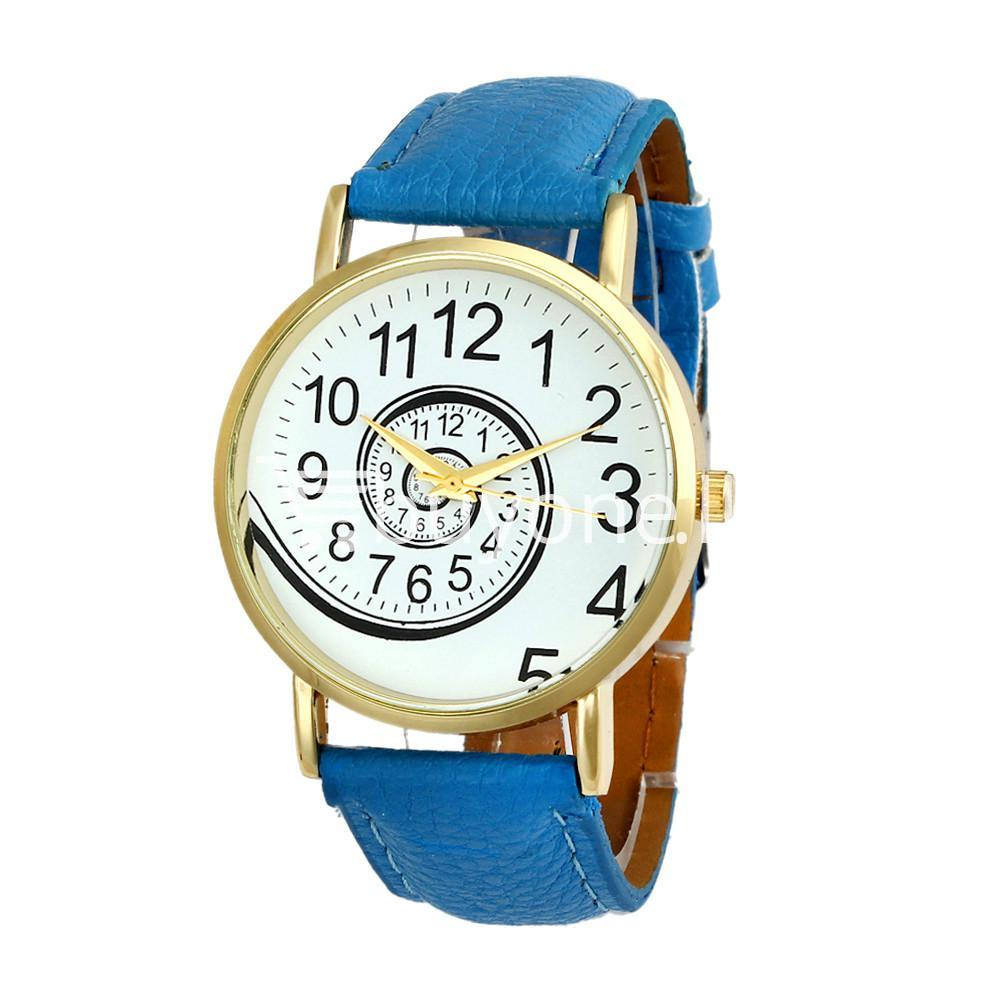spiral design pattern quartz wrist watch watch store special best offer buy one lk sri lanka 09059 - Spiral Design Pattern Quartz Wrist Watch