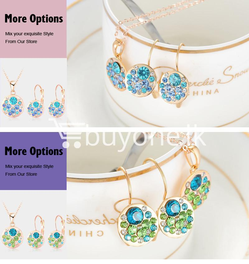 2016 new 18k rose gold plated pendantearrings jewelry set jewelry sets special best offer buy one lk sri lanka 63911 1 - 2016 New 18K Rose Gold Plated Pendant/Earrings Jewelry Set