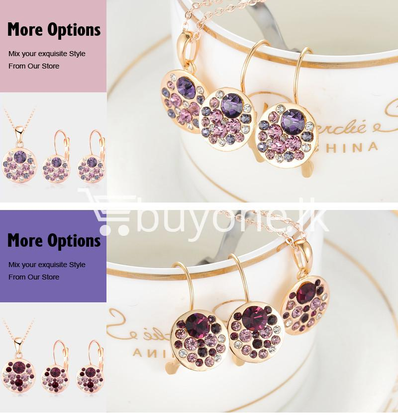 2016 new 18k rose gold plated pendantearrings jewelry set jewelry sets special best offer buy one lk sri lanka 63914 - 2016 New 18K Rose Gold Plated Pendant/Earrings Jewelry Set