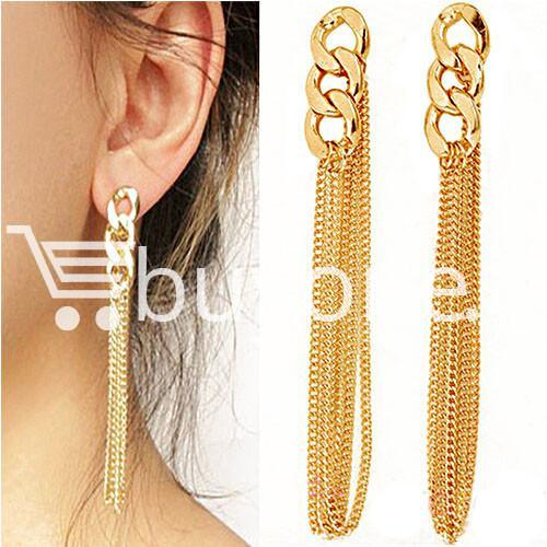new fashion women gold plated drop earrings earrings special best offer buy one lk sri lanka 62173 1 - New Fashion Women Gold Plated Drop Earrings