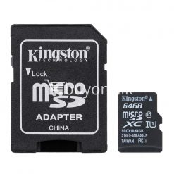 64gb kingston micro sd card tf class10 memory card with warranty mobile phone accessories special best offer buy one lk sri lanka 24039 247x247 - 64GB Kingston Micro SD Card TF Class10 Memory Card with Warranty