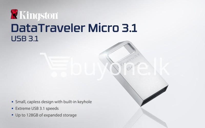 64gb kingston usb 3.0 data traveler micro 3.1 flash pen drive computer store special best offer buy one lk sri lanka 43541 - 64GB Kingston USB 3.0 Data Traveler Micro 3.1 Flash Pen drive