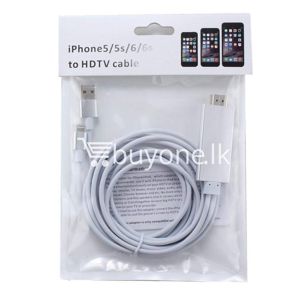 iphone hdmi 1080p hdtv cable for iphone 55s66plus6s6splusipad mobile phone accessories special best offer buy one lk sri lanka 25741 - iPhone HDMI 1080p HDTV Cable For iPhone 5/5S/6/6plus/6S/6SPlus/ipad