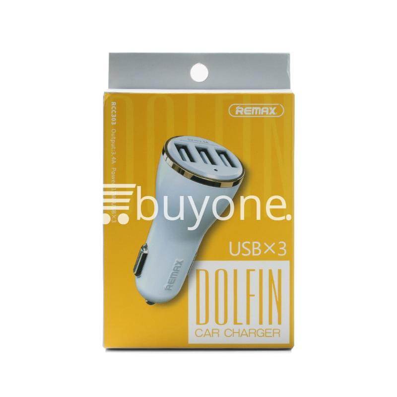 original remax dolfin triple ports usb car charger for iphone ipad samsung htc mobile phone accessories special best offer buy one lk sri lanka 26488 - Original Remax Dolfin Triple Ports USB Car Charger For iPhone iPad Samsung HTC