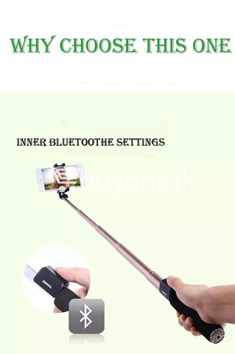 original remax p4 bluetooth selfie stick titanium metal body mobile phone accessories special best offer buy one lk sri lanka 24307 - Original Remax P4 Bluetooth Selfie Stick Titanium Metal Body