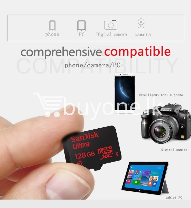 original sandisk 128gb ultra memory card micro sd card mobile store special best offer buy one lk sri lanka 79242 1 - Original SanDisk 128gb Ultra memory card micro SD Card with Adapter