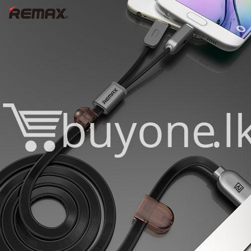 remax micro usb cable to lighting gemini transfer for android iphone 6 5s charge at same time mobile store special best offer buy one lk sri lanka 28175 - Remax Micro USB Cable to Lighting Gemini Transfer For Android iPhone 6 5S Charge At Same Time