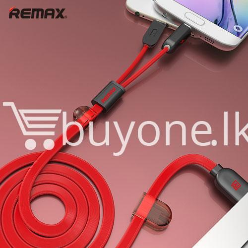 remax micro usb cable to lighting gemini transfer for android iphone 6 5s charge at same time mobile store special best offer buy one lk sri lanka 28177 - Remax Micro USB Cable to Lighting Gemini Transfer For Android iPhone 6 5S Charge At Same Time