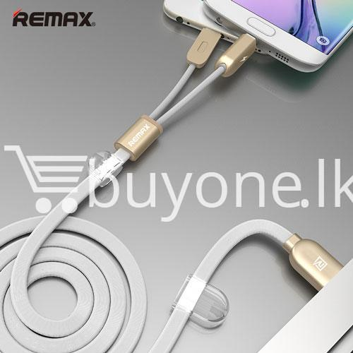 remax micro usb cable to lighting gemini transfer for android iphone 6 5s charge at same time mobile store special best offer buy one lk sri lanka 28180 - Remax Micro USB Cable to Lighting Gemini Transfer For Android iPhone 6 5S Charge At Same Time
