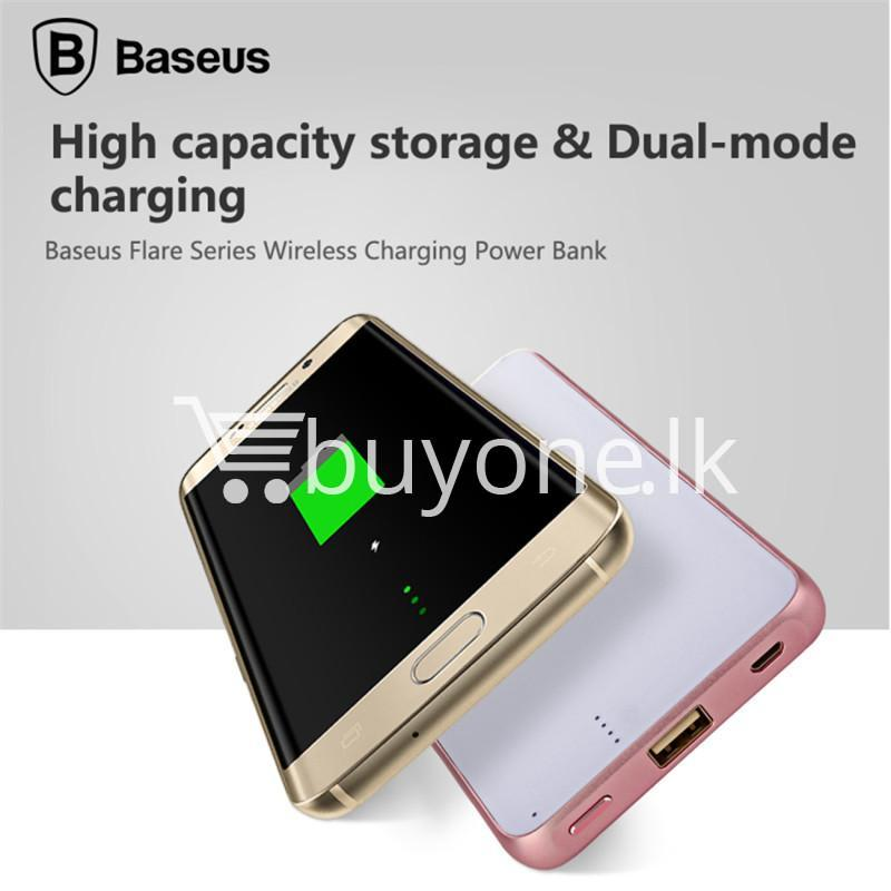 baseus wireless charging base with fast charger power bank 5000mah for iphone samsung htc mi mobile phones mobile phone accessories special best offer buy one lk sri lanka 74389 - BASEUS Wireless Charging Base with Fast Charger Power Bank 5000mAh For iPhone Samsung HTC MI Mobile Phones