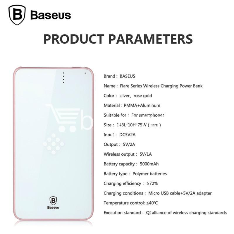 baseus wireless charging base with fast charger power bank 5000mah for iphone samsung htc mi mobile phones mobile phone accessories special best offer buy one lk sri lanka 74390 - BASEUS Wireless Charging Base with Fast Charger Power Bank 5000mAh For iPhone Samsung HTC MI Mobile Phones