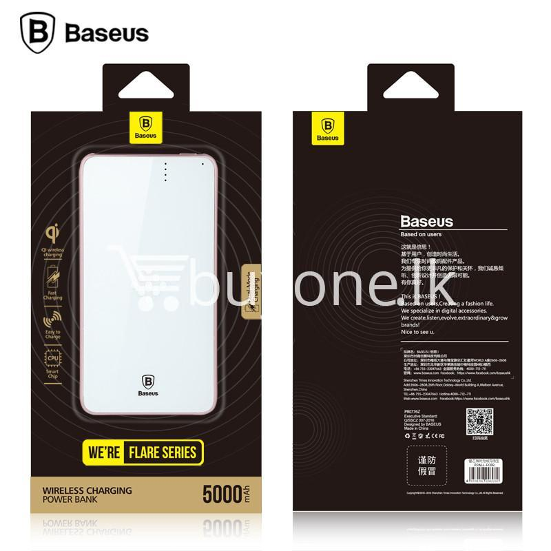 baseus wireless charging base with fast charger power bank 5000mah for iphone samsung htc mi mobile phones mobile phone accessories special best offer buy one lk sri lanka 74407 - BASEUS Wireless Charging Base with Fast Charger Power Bank 5000mAh For iPhone Samsung HTC MI Mobile Phones