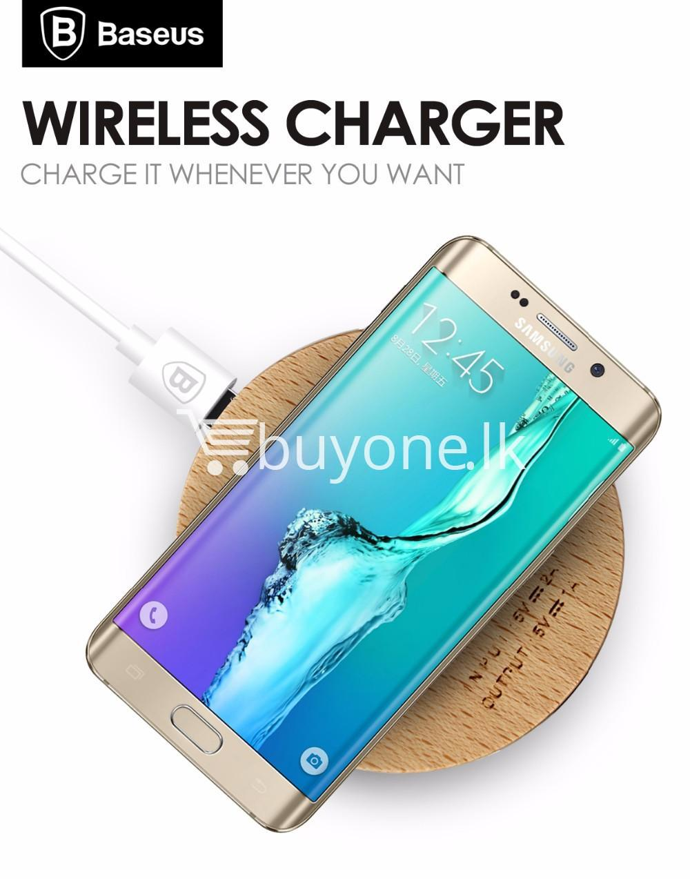 original baseus qi wireless charger for samsung iphone htc mi mobile phone accessories special best offer buy one lk sri lanka 73735 - Original Baseus Qi Wireless Charger for Samsung iPhone HTC Mi