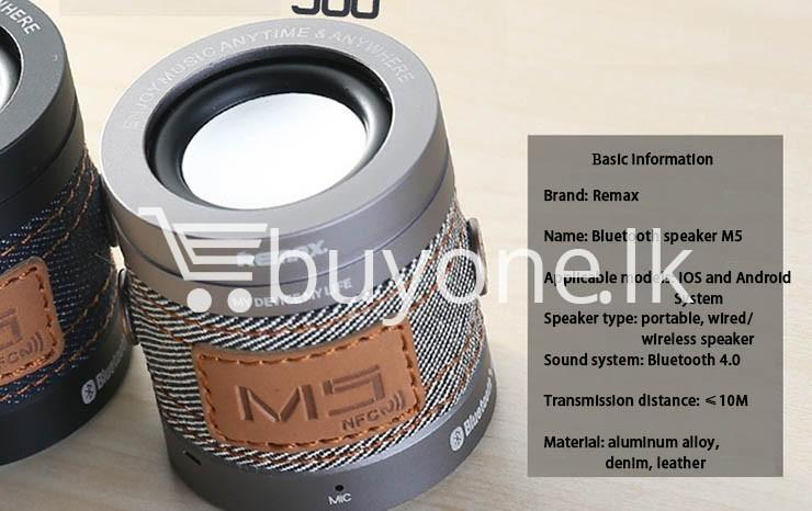 original remax m5 portable mini wireless bluetooth speaker mobile phone accessories special best offer buy one lk sri lanka 01186 - Original REMAX M5 Portable Mini Wireless Bluetooth Speaker