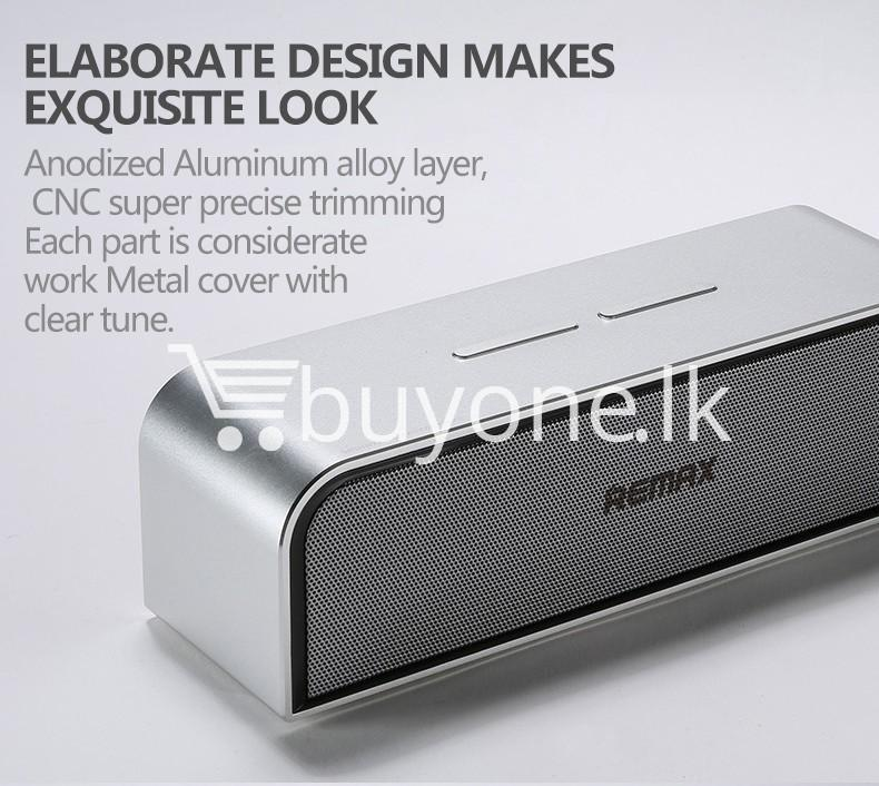 remax rb m8 portable aluminum wireless bluetooth 4.0 speakers with clear bass computer accessories special best offer buy one lk sri lanka 57644 REMAX RB M8 Portable Aluminum Wireless Bluetooth 4.0 Speakers with Clear Bass