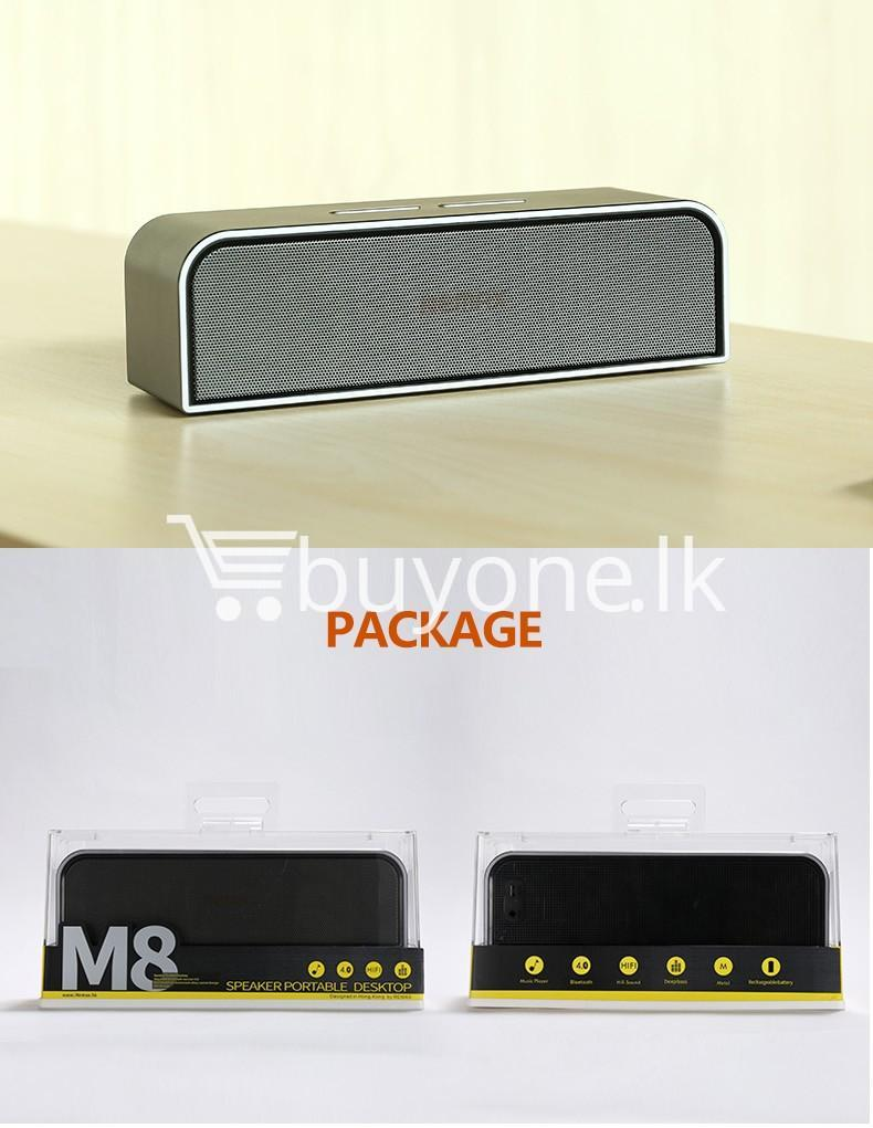 remax rb m8 portable aluminum wireless bluetooth 4.0 speakers with clear bass computer accessories special best offer buy one lk sri lanka 57654 REMAX RB M8 Portable Aluminum Wireless Bluetooth 4.0 Speakers with Clear Bass