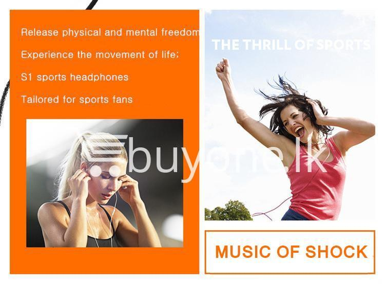 remax s1 stereo sport earphones deep bass music earbuds with microphone mobile phone accessories special best offer buy one lk sri lanka 48034 1 - Remax S1 Stereo Sport Earphones Deep Bass Music Earbuds with Microphone