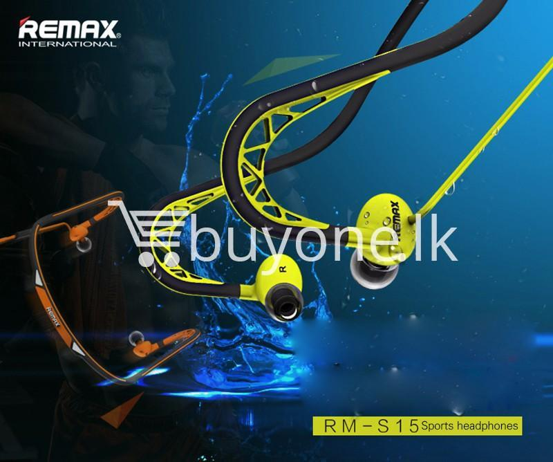 stylish remax in ear sports sweat proof neckband earphones mobile phone accessories special best offer buy one lk sri lanka 86295 - Stylish REMAX In-Ear Sports Sweat-proof Neckband Earphones