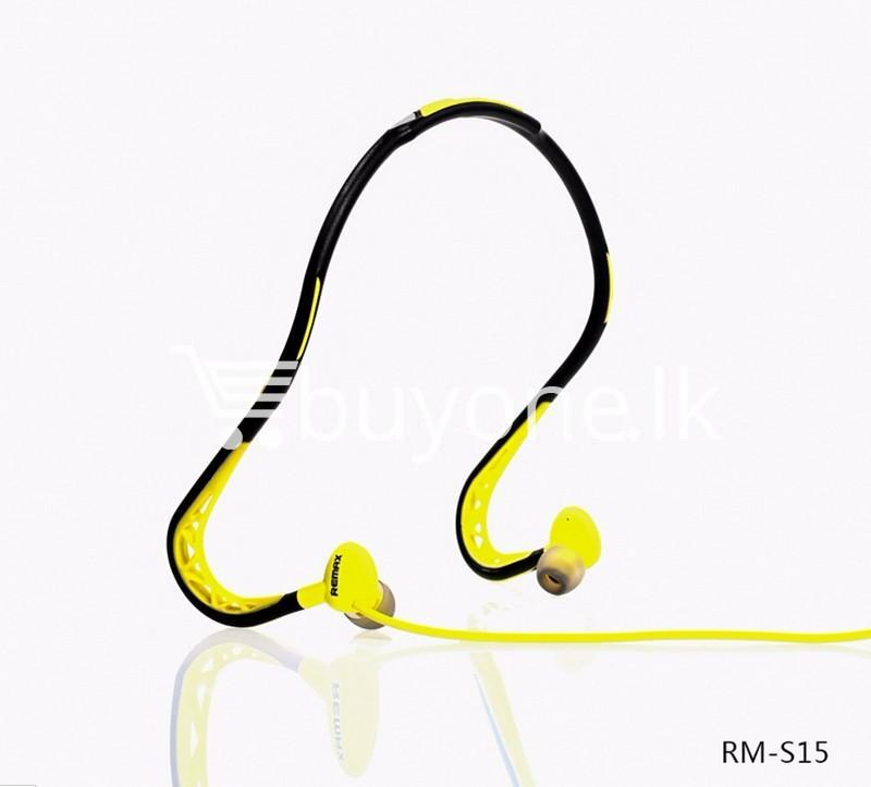stylish remax in ear sports sweat proof neckband earphones mobile phone accessories special best offer buy one lk sri lanka 86297 Stylish REMAX In Ear Sports Sweat proof Neckband Earphones
