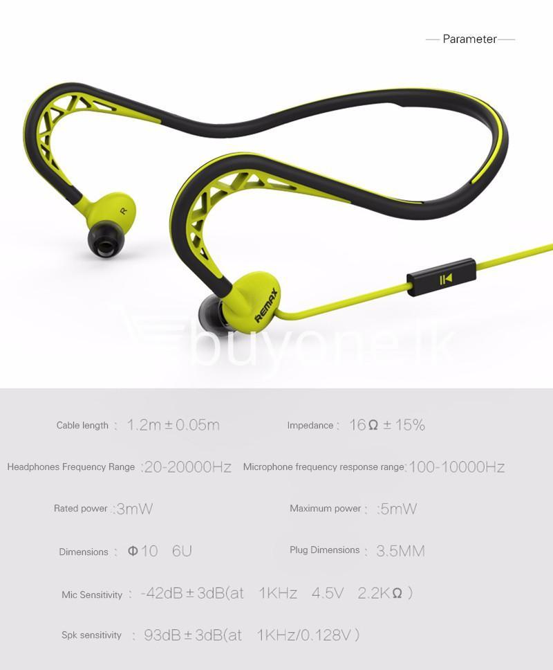 stylish remax in ear sports sweat proof neckband earphones mobile phone accessories special best offer buy one lk sri lanka 86298 Stylish REMAX In Ear Sports Sweat proof Neckband Earphones