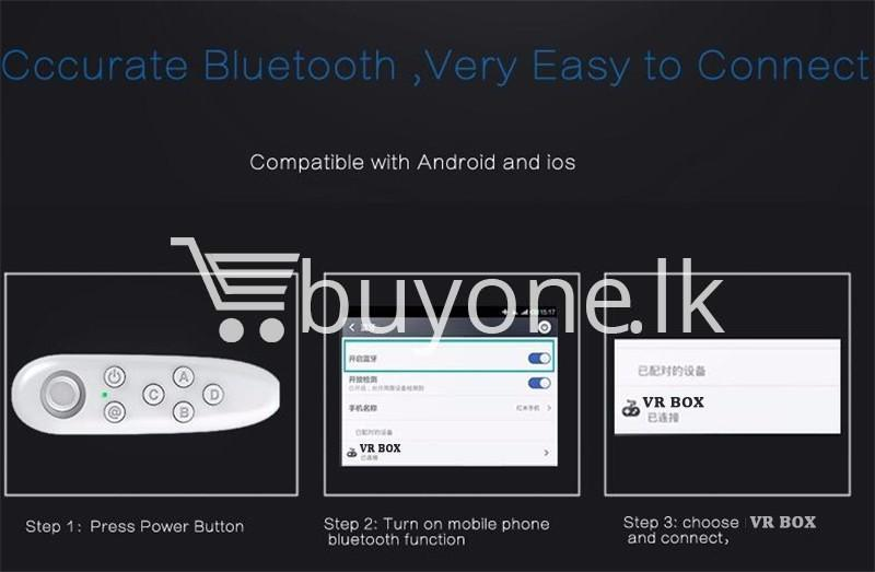 universal vr virtual reality box bluetooth remote controller for ios samsung android mobile phone accessories special best offer buy one lk sri lanka 72422 - Universal VR Virtual Reality BOX Bluetooth Remote Controller For IOS Samsung Android