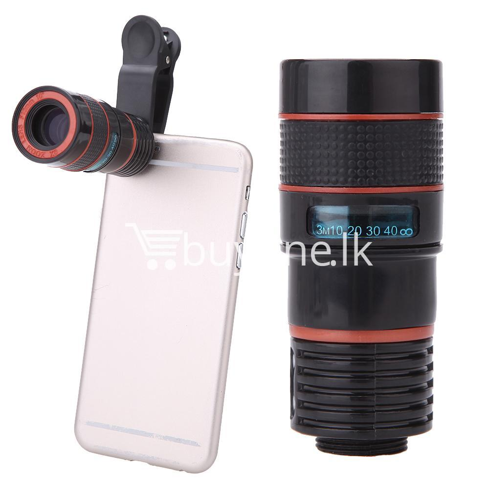 universal special design 8x zoom phone lens telephoto camera lens for iphone samsung htc xiaomi mobile phone accessories special best offer buy one lk sri lanka 22878 - Universal Special Design 8X Zoom Phone Lens Telephoto Camera Lens For iPhone Samsung HTC Xiaomi