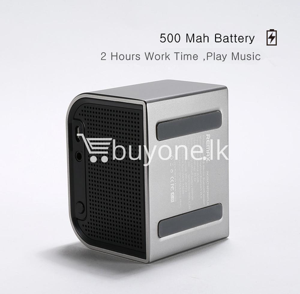 remax m8 mini desktop bluetooth 4.0 speaker deep bass aluminum mobile phone accessories special best offer buy one lk sri lanka 60122 - Remax M8 Mini Desktop Bluetooth 4.0 Speaker Deep Bass Aluminum