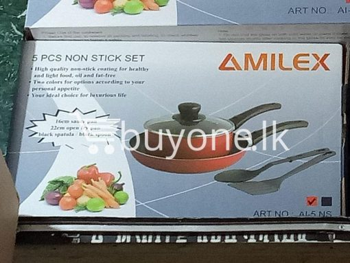 amilex 5pcs non stick set for healthy and light food home-and-kitchen special best offer buy one lk sri lanka 99504.jpg