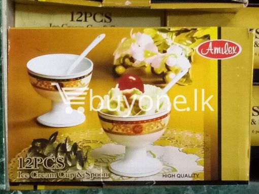 amilex high quality 12pcs set ice cream cup & spoon home-and-kitchen special best offer buy one lk sri lanka 99462.jpg