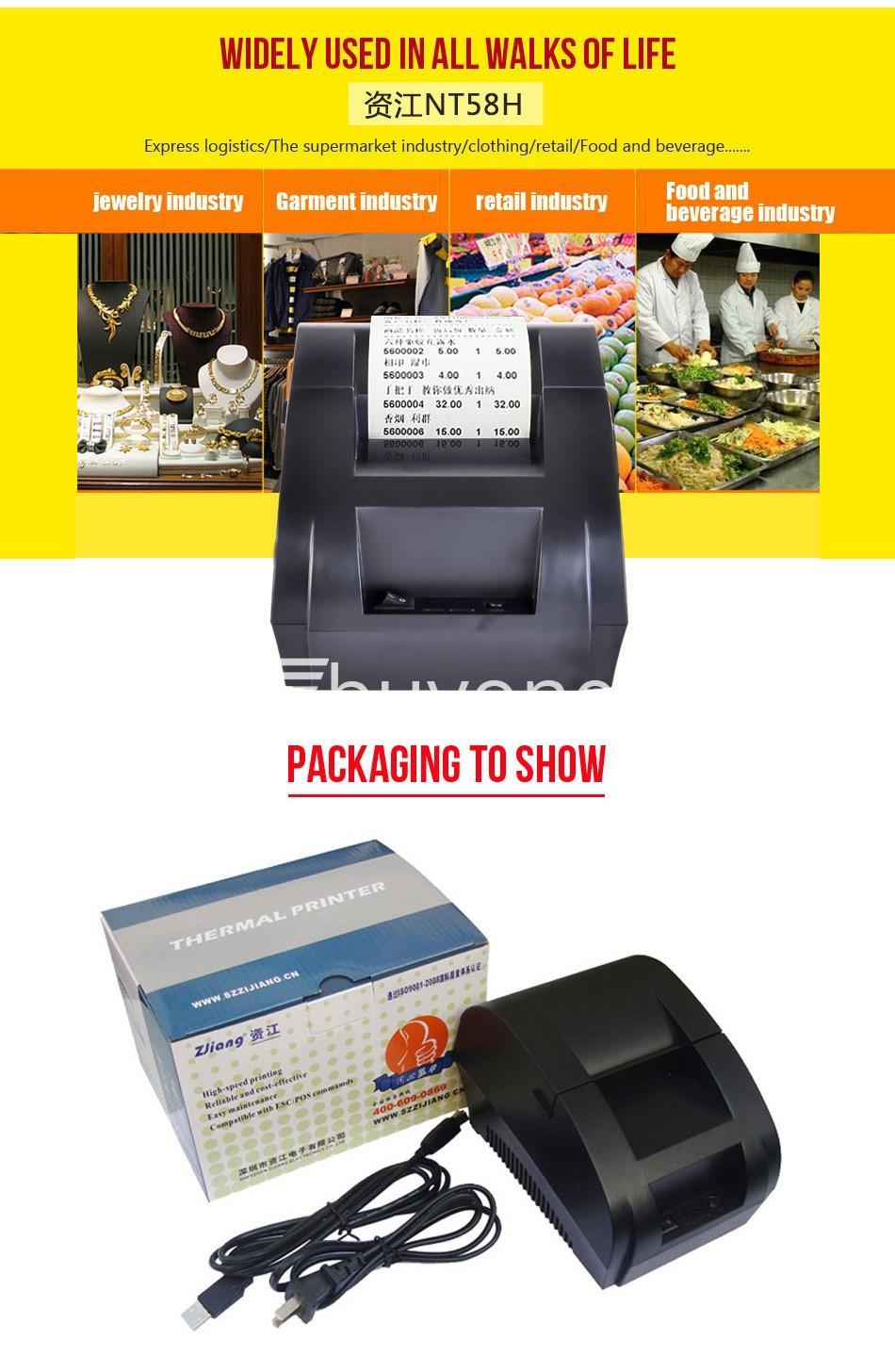 new 58mm thermal receipt printer pos with usb port computer store special best offer buy one lk sri lanka 44629 New 58mm Thermal Receipt Printer POS with USB Port