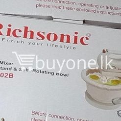richsonic enrich your lifestyle hand mixer with stand self rotating bowl rh 502b home and kitchen special best offer buy one lk sri lanka 99507 247x247 - Richsonic Enrich your lifestyle Hand Mixer with Stand & Self-Rotating Bowl RH-502B