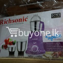 richsonic enrich your lifestyle spike mixer grinder with special shock proof abs body home and kitchen special best offer buy one lk sri lanka 99474 247x247 - Richsonic Enrich your lifestyle Spike Mixer Grinder with Special Shock Proof ABS Body