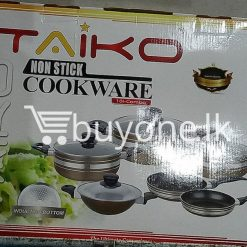 taiko non stick cookware 10pcs full set induction bottom healthy cooking home and kitchen special best offer buy one lk sri lanka 99441 247x247 - Taiko Non Stick Cookware 10pcs Full Set Induction Bottom Healthy Cooking