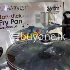 the harvest premium homeware 26cm non stick fry pan with glass lid home and kitchen special best offer buy one lk sri lanka 99595 247x247 - The Harvest Premium Homeware-26cm Non Stick Fry Pan with Glass Lid