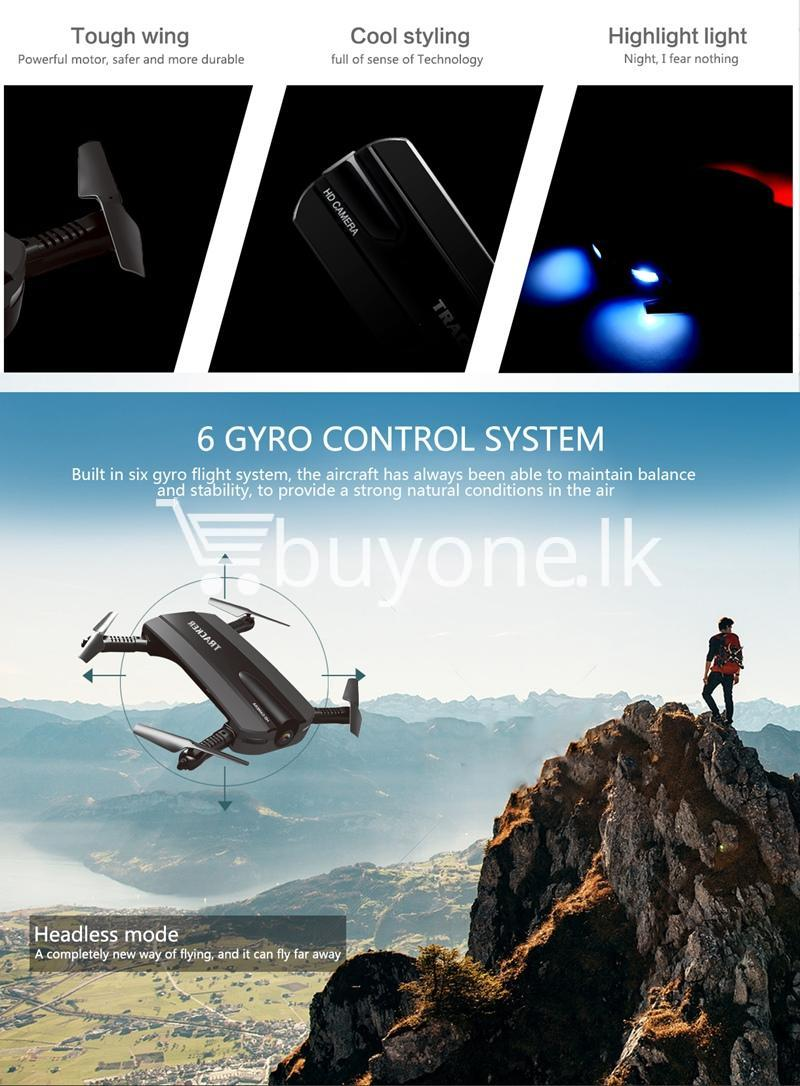 mini selfie tracker foldable pocket rc quadcopter drone altitude hold fpv with wifi camera mobile store special best offer buy one lk sri lanka 30764 - Mini Selfie Tracker Foldable Pocket RC Quadcopter Drone Altitude Hold FPV with WIFI Camera