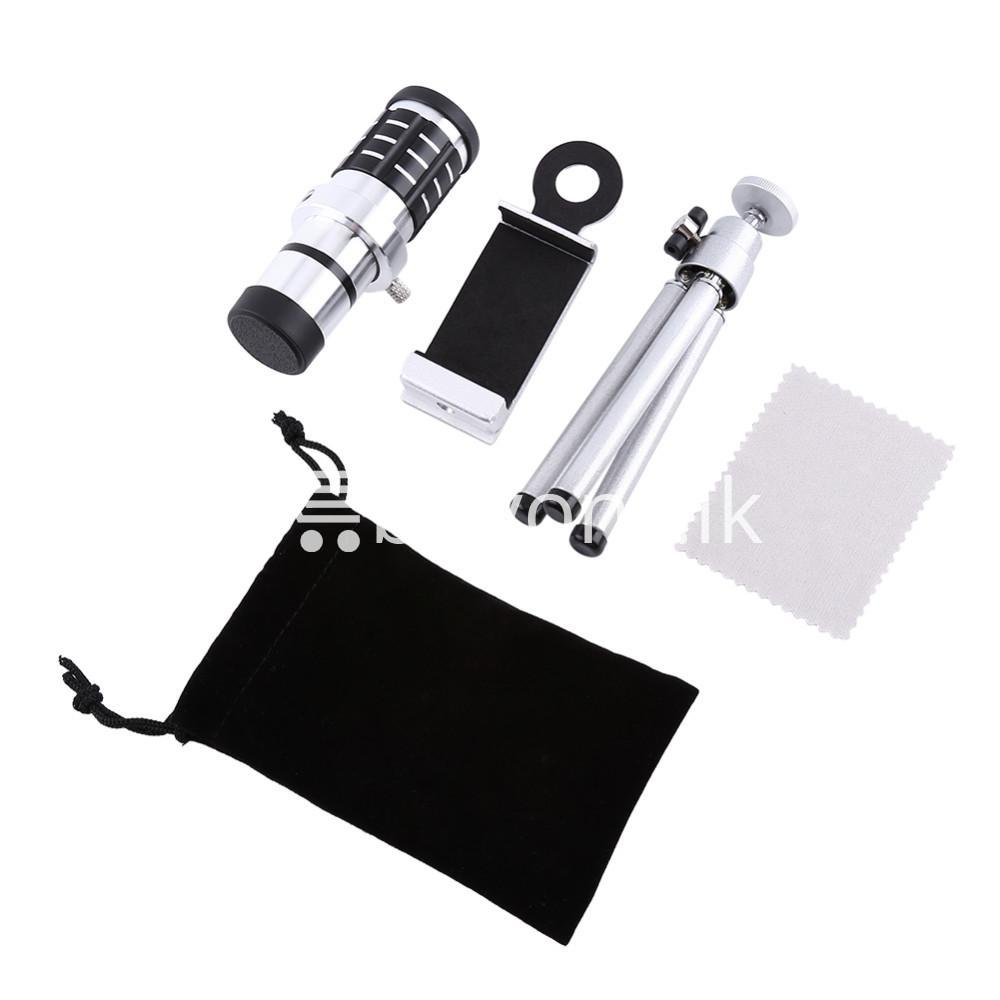 12x zoom camera telephoto telescope lens mount tripod kit for iphone xiaomi samsung huawei htc universal mobile phone accessories special best offer buy one lk sri lanka 06556 - 12X Zoom Camera Telephoto Telescope Lens + Mount Tripod Kit For iPhone Xiaomi Samsung Huawei HTC Universal