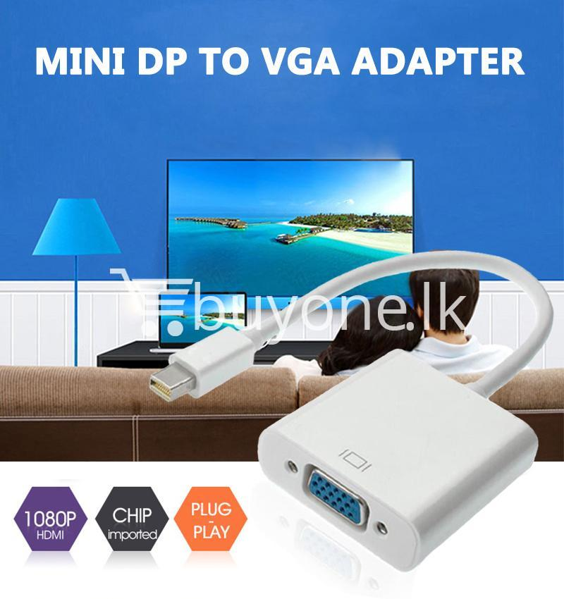 mini displayport thunderbolt to vga converter 1080p cables for macbook imac more computer accessories special best offer buy one lk sri lanka 43909 - Mini Displayport Thunderbolt To VGA Converter 1080P Cables For Macbook, iMac, More