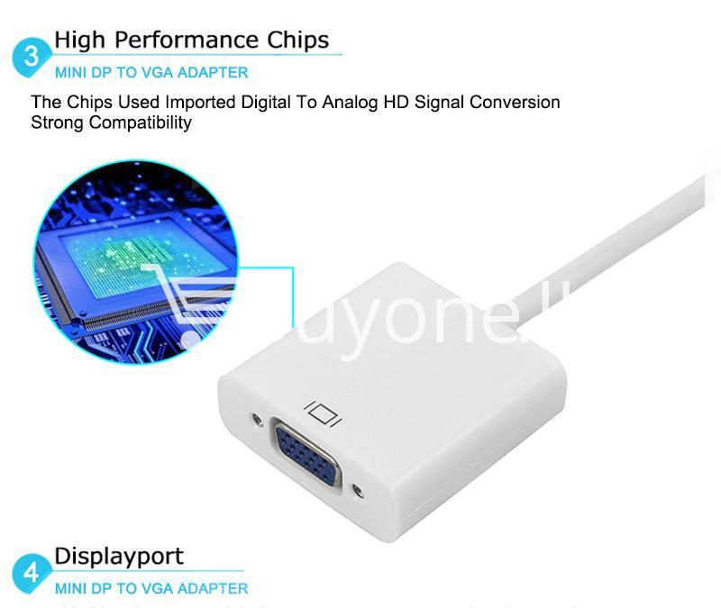 mini displayport thunderbolt to vga converter 1080p cables for macbook imac more computer accessories special best offer buy one lk sri lanka 43914 - Mini Displayport Thunderbolt To VGA Converter 1080P Cables For Macbook, iMac, More