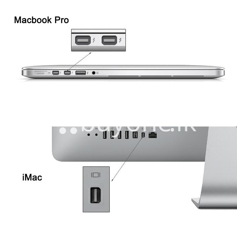 mini displayport thunderbolt to vga converter 1080p cables for macbook imac more computer accessories special best offer buy one lk sri lanka 43918 - Mini Displayport Thunderbolt To VGA Converter 1080P Cables For Macbook, iMac, More