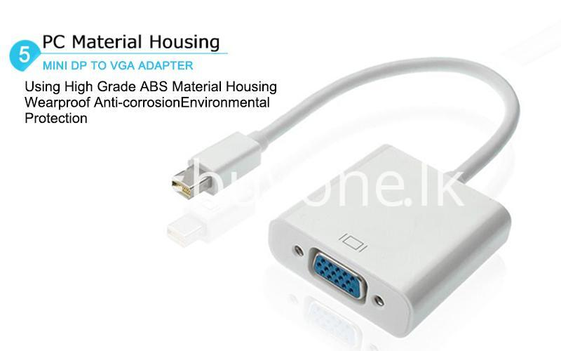 mini displayport thunderbolt to vga converter 1080p cables for macbook imac more computer accessories special best offer buy one lk sri lanka 43920 - Mini Displayport Thunderbolt To VGA Converter 1080P Cables For Macbook, iMac, More