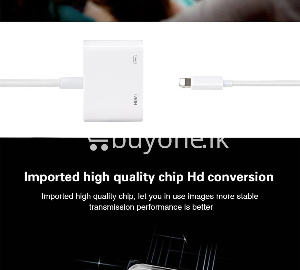 original hdmi hdtv tv lightning digital av adapter cable for iphone high resolution 1080p mobile phone accessories special best offer buy one lk sri lanka 46597 Original HDMI/ HDTV TV Lightning Digital  AV Adapter Cable For iPhone High Resolution 1080P