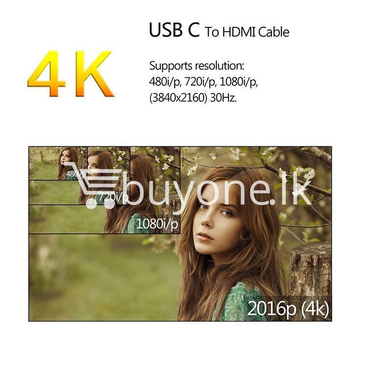 usb type c to hdmi 4k hdtv cable limited edition connect any usb type c to your tvprojector mobile phone accessories special best offer buy one lk sri lanka 44721 USB Type C to HDMI 4k HDTV Cable Limited Edition Connect any USB Type C to your TV/Projector