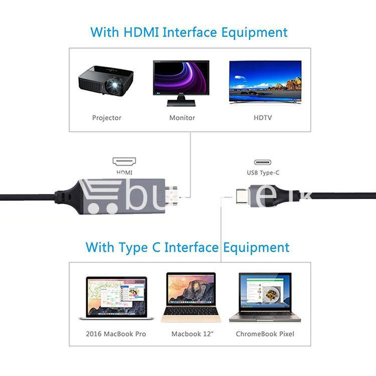 usb type c to hdmi 4k hdtv cable limited edition connect any usb type c to your tvprojector mobile phone accessories special best offer buy one lk sri lanka 44722 USB Type C to HDMI 4k HDTV Cable Limited Edition Connect any USB Type C to your TV/Projector
