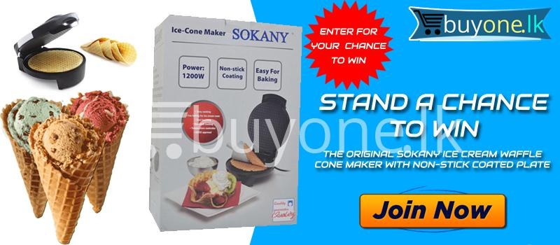 Stand a Chance To Win The Original Sokany Ice Cream Waffle Cone Maker with Non stick Coated Plate - Stand a Chance To Win The Original Sokany Ice Cream Waffle Cone Maker with Non-stick Coated Plate