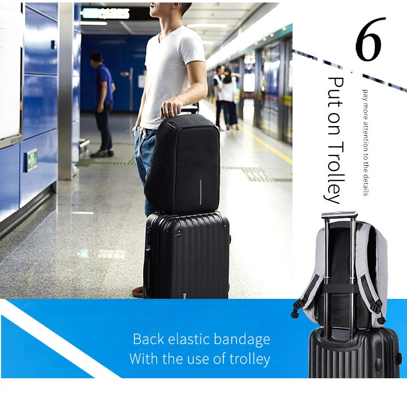 new multi function waterproof anti theft laptop backpacks with usb charging computer accessories special best offer buy one lk sri lanka 67126 - New Multi function Waterproof Anti theft Laptop Backpacks with USB Charging