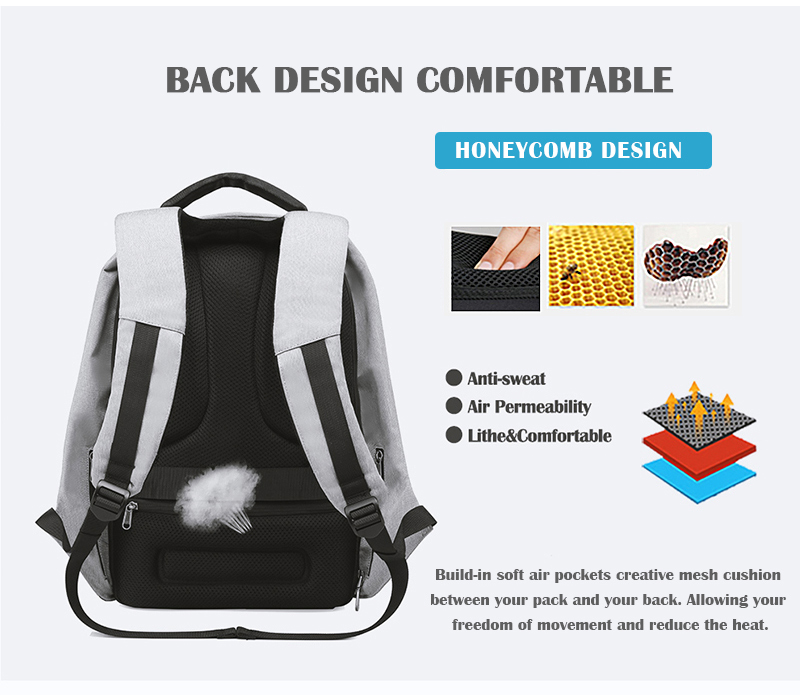 new multi function waterproof anti theft laptop backpacks with usb charging computer accessories special best offer buy one lk sri lanka 67152 - New Multi function Waterproof Anti theft Laptop Backpacks with USB Charging